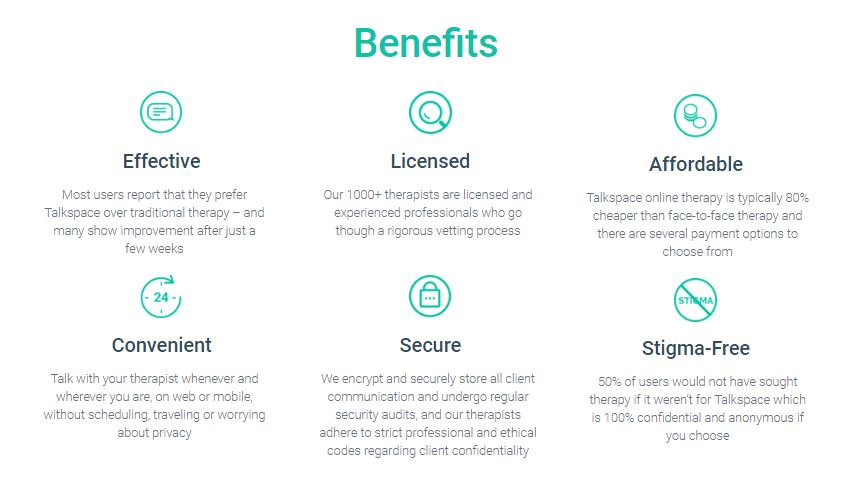 Benefits of Talkspace