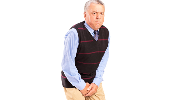 man with groin pain