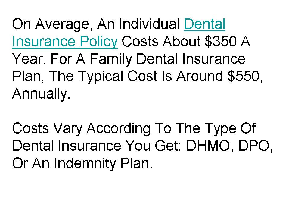 Dental insurance quote 1