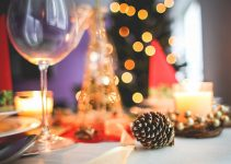 christmas table decoration close up picjumbo com