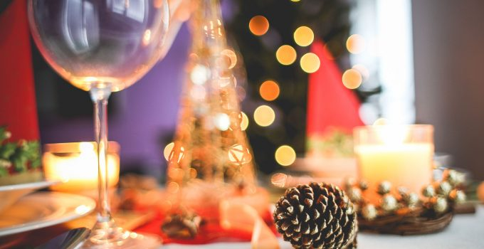 christmas table decoration close up picjumbo com