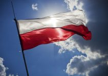 sky blue flag poland