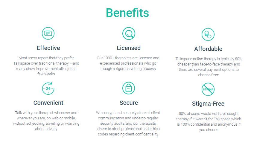 Benefits of Talkspace