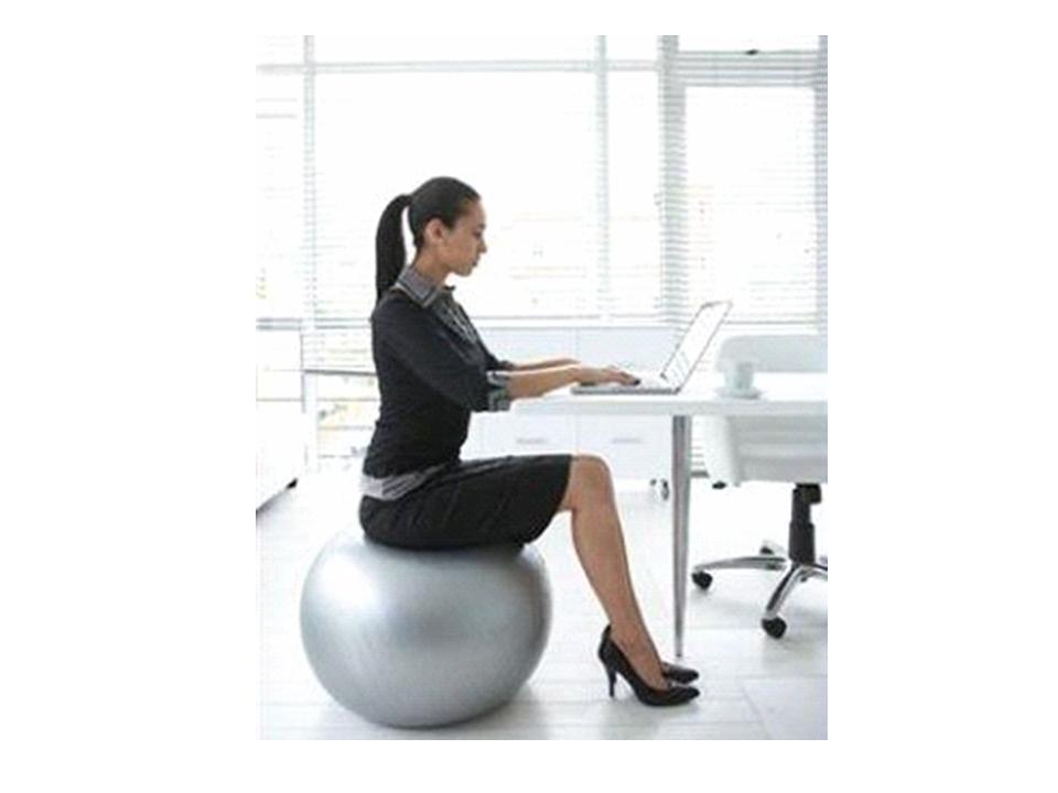 sitting in an ergonomic chair