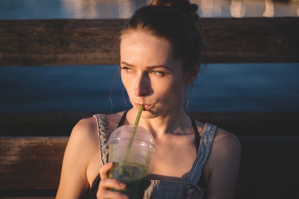 women having a healthy drink