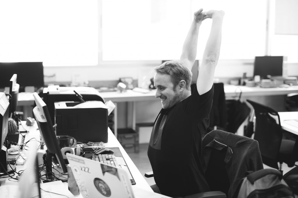 exercise at work to overcome stress