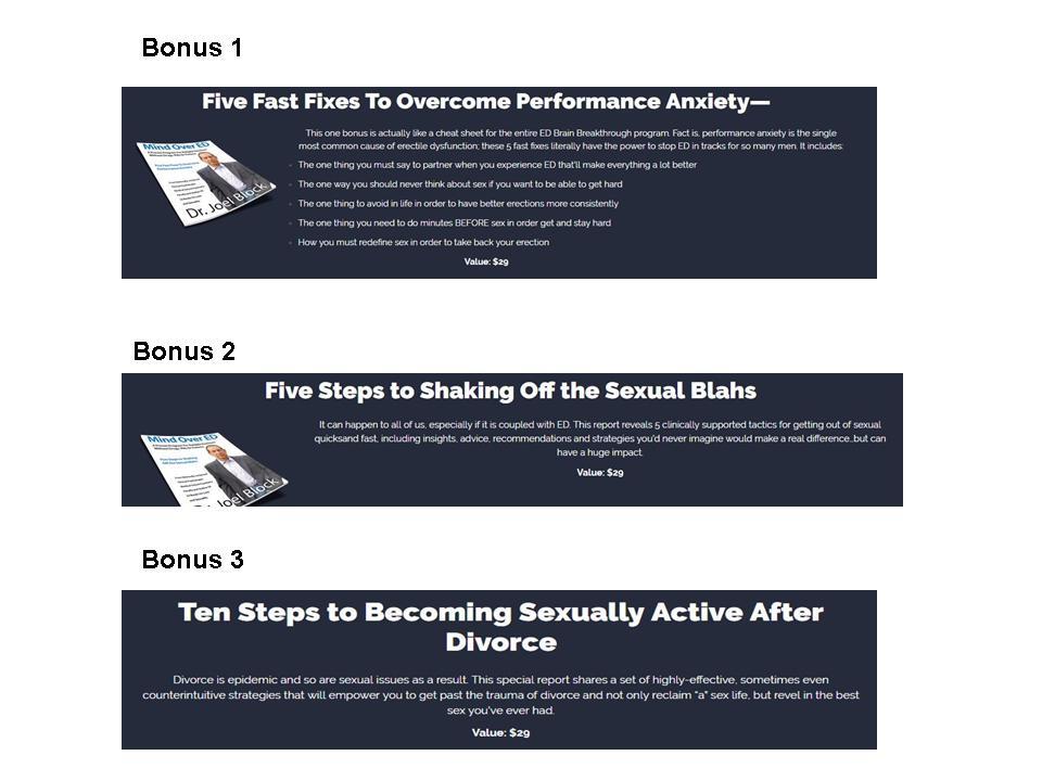 Mind Over ED Bonuses
