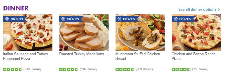 Nutrisystem Dinners