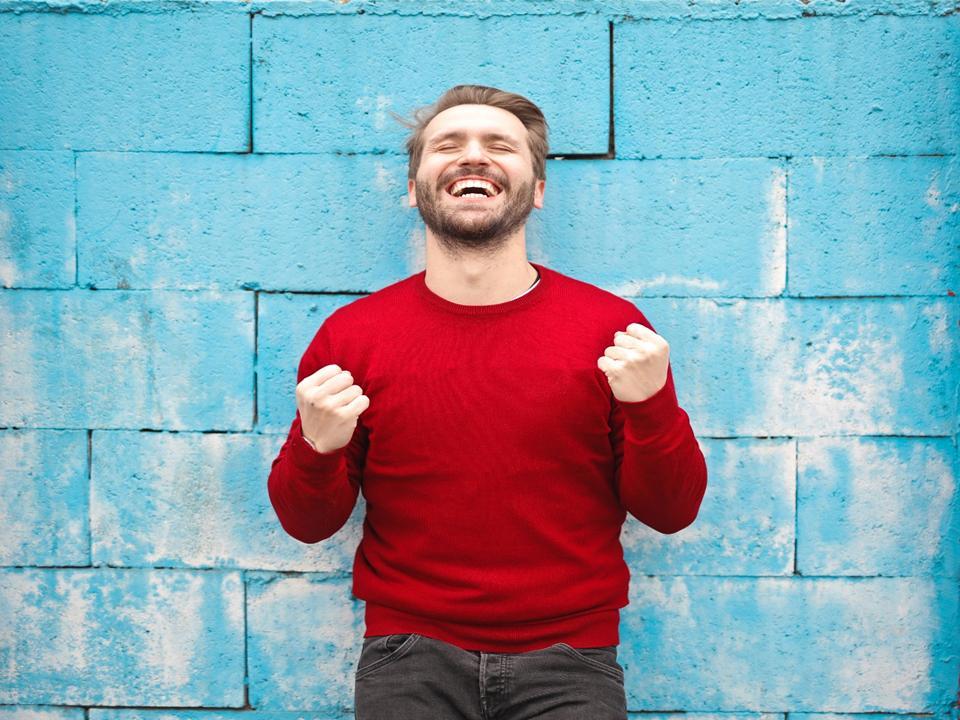 man being optimistic