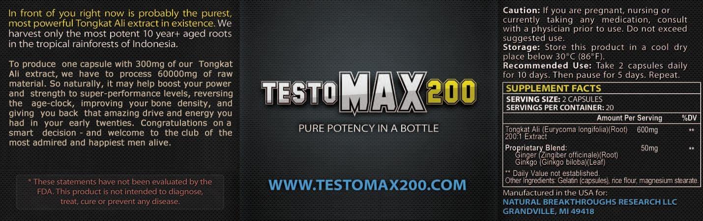Testo Max ingredients