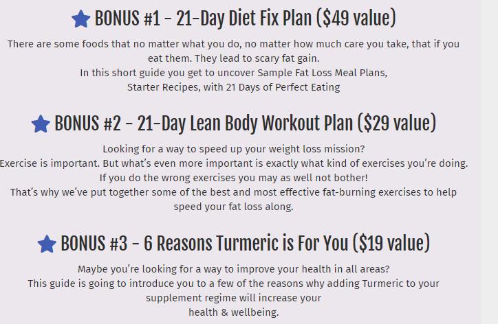 Bonuss when you buy Turmaslim