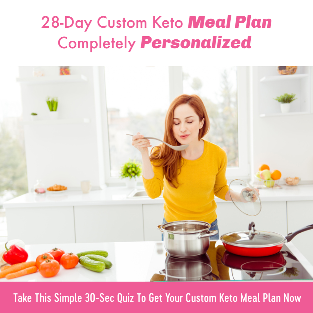 28 day customized meal plan Keto
