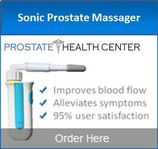 Sonic prostate massage