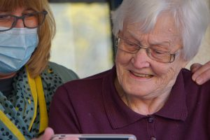 woman in assisted living community