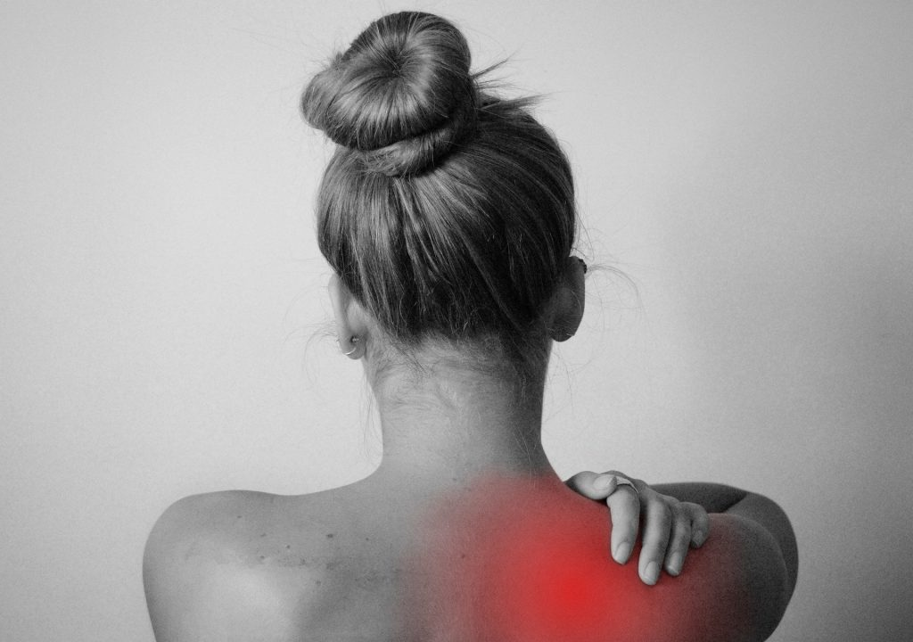 woman with chronic back pain