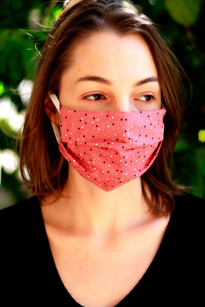 woman in facemask